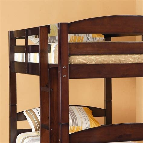 Sturdy Wood Bunk Beds Bunk Bed Espresso Sturdy Solid Wood And 50 Similar Items