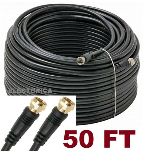 50 ft rg 6 satellite coax cable rg6 coaxial antenna ota hd tv bell rogers dish ebay