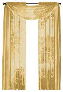 Sheer Gold Curtains Hlc Me Pair Of Sheer Panels Window Treatment Curtains Yellow Gold Traditional Curtains By