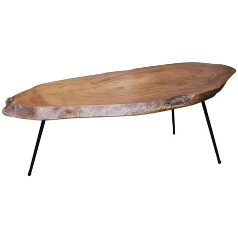 Tree Stump Coffee Table Tree Trunk Coffee Table In Nakashima Style At 1stdibs