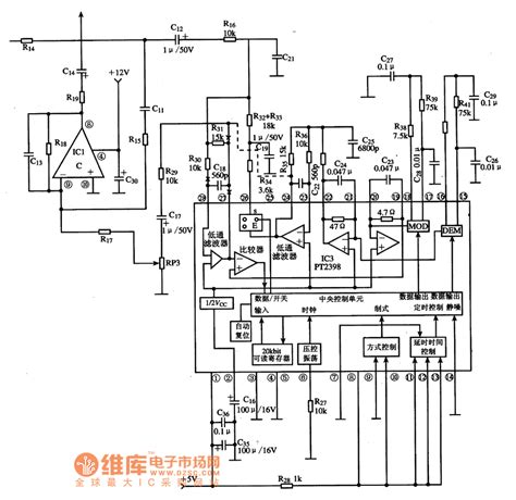 integrated circuit basics pt2398 reverberation processing integrated circuit diagram basic circuit circuit diagram