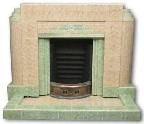 Deco Fireplace Tiles by A 1930s Deco Tiled Fireplace With Mottled Green
