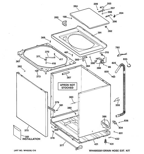 hotpoint washing machine parts diagram hotpoint washer cabinet cover front pa parts