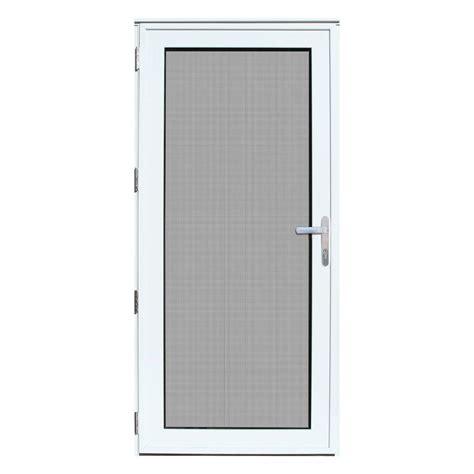 Security Door Glass Unique Home Designs 36 In X 80 In White Recessed Mount Left Meshtec Ultimate Door
