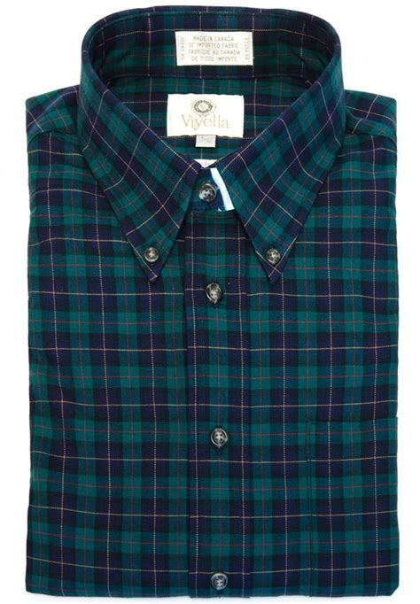 Shirt Tartan viyella button tartan shirt in a blend of 80 cotton