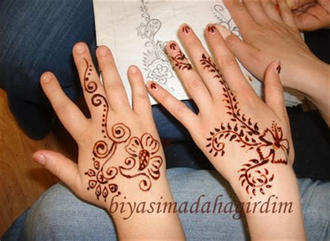 henna tattoo nasil yapilir bi yaşıma daha girdim abla no 1 kınaları