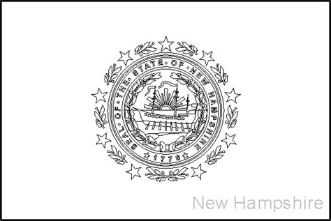 new hshire state flag coloring pages usa for kids
