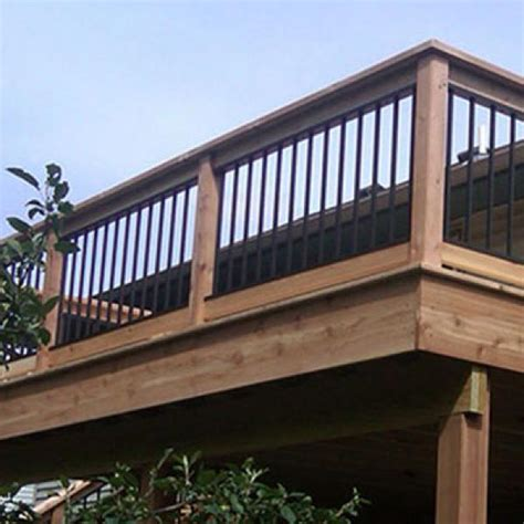 Black Deck Balusters Railing Image Gallery Evolve Aluminum Decksdirect