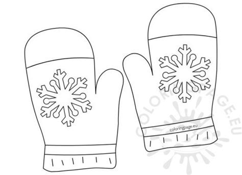 coloring pages winter gloves winter coloring page