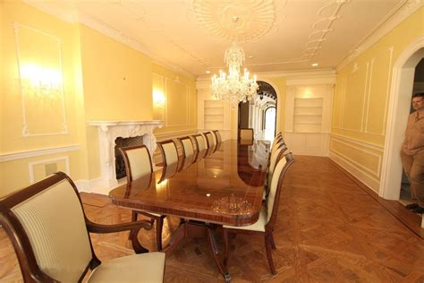allow extra room for dining with a large kitchen islands extra long 16 foot triple pedestal mahogany dining table w