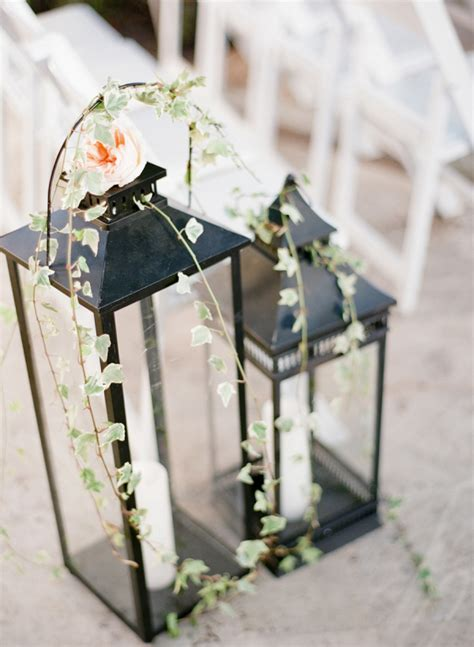 Wedding Aisle With Lanterns by Lanterns With And Candles Aisle Decor Elizabeth