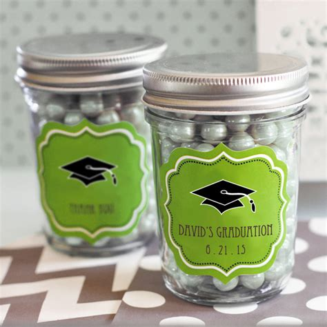Graduation Party Giveaways - quot hats off to you quot graduation mini mason jars graduation party favors gifts other