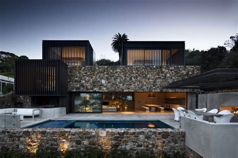 home new zealand architecture design and interiors local rock house pattersons archdaily