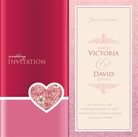 wedding invitation card design vector free download wedding invitation cards vectors