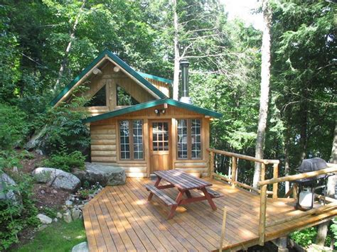Leonard Lake Cottage For Sale by Smaller Log Cabin Lake Front St Leonard De Portneuf
