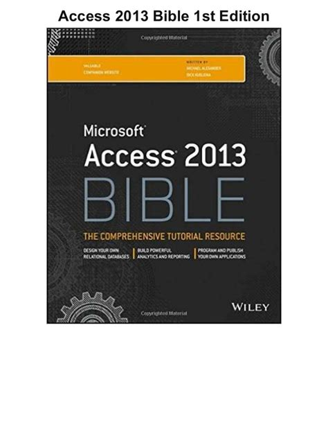 axioms 1st edition books access 2013 bible 1st edition pdf ebook free
