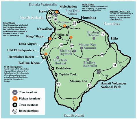 printable road map of big island hawaii big island hawaii tourist map big island hawaii mappery