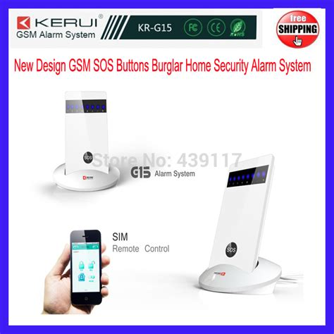 free shipping home wireless gsm sos buttons security alarm