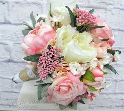Flower For A Wedding by Pink Peony Wedding Bouquet In Bloom
