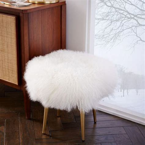 mongolian fur stool fur stool products bookmarks design inspiration
