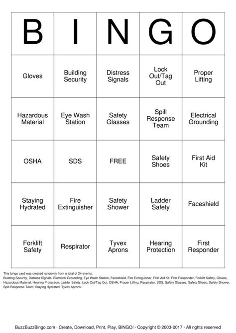 safety bingo cards to download print and customize safety bingo bingo cards to download print and customize