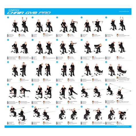 chair exercise workout list gymstick chair workouts