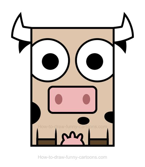 easy to draw clipart cow clipart