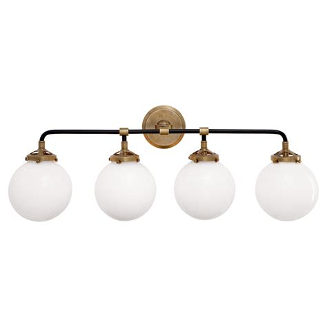 four lights bistro four light bath sconce in various finishes w glass