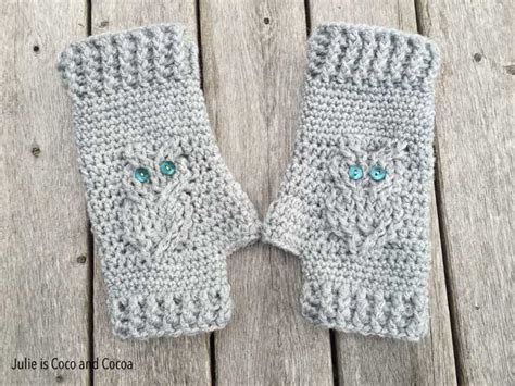owl fingerless gloves knitting pattern powering through winter diy fingerless gloves
