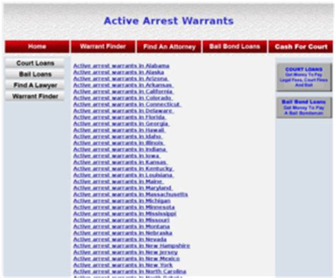 Free Arrest Warrant Search Activearrestwarrants Active Arrest Warrants