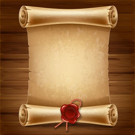 scroll paper template free creative scroll paper background vector set 14 vector