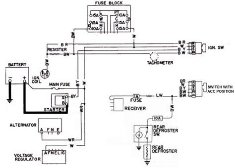 4 wire ignition switch diagram wiring wiring diagram for
