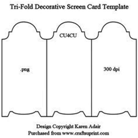 tri fold cards template with opening 17 best images about shaped cards on birthday