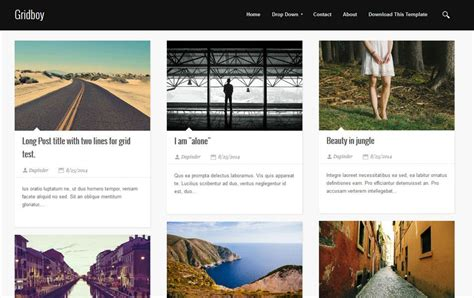 25 free grid blogger templates for online portfolio