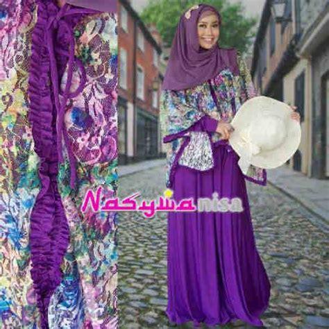 Balino Gamis Ungu alfira by nasywannisa ungu baju muslim gamis modern