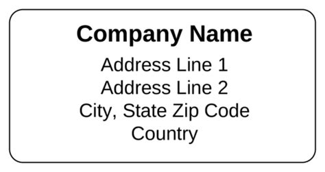 Shipping Label Templates Download Shipping Label Designs Business Address Labels Templates