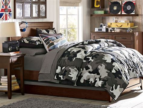 Camo Bedding Sets For Boys I The Pbteen Hton Camo Bedroom On Pbteen Boys Rooms Redo Pinterest Gray