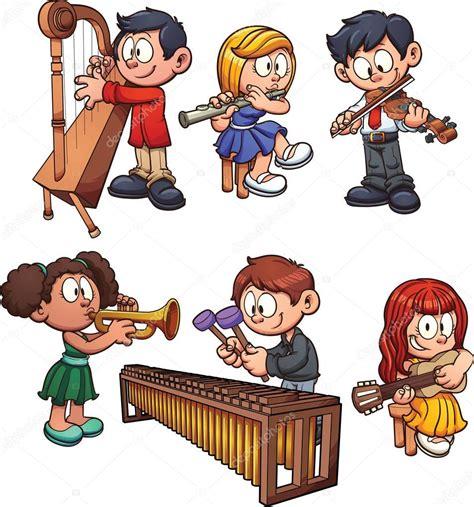 Imagenes De Niños Tocando Instrumentos Musicales | ni 241 os tocando instrumentos musicales archivo im 225 genes