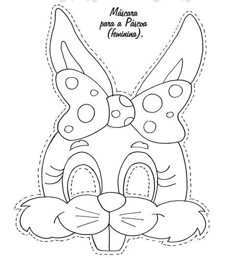 bunny mask coloring pages moldes de m 225 scaras de coelhos da p 225 scoa imagens para voc 202