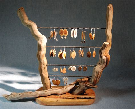 Handmade Jewelry Display Ideas - wooden jewelry display on jewelry displays