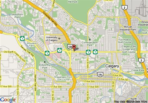 map of canada showing calgary map of calgary travelodge calgary