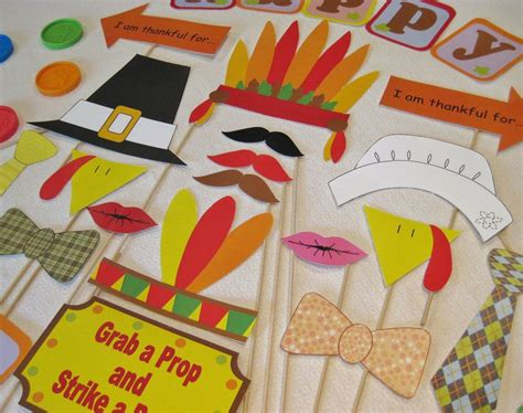 thanksgiving photo booth props pdf thanksgiving photo booth props decorations craft printable diy