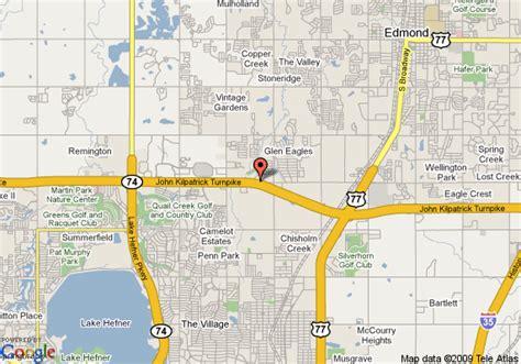 where is edmond oklahoma on the map map of best western memorial inn suites edmond