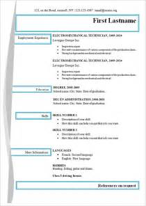 simple resume template simple resume template 39 free sles exles