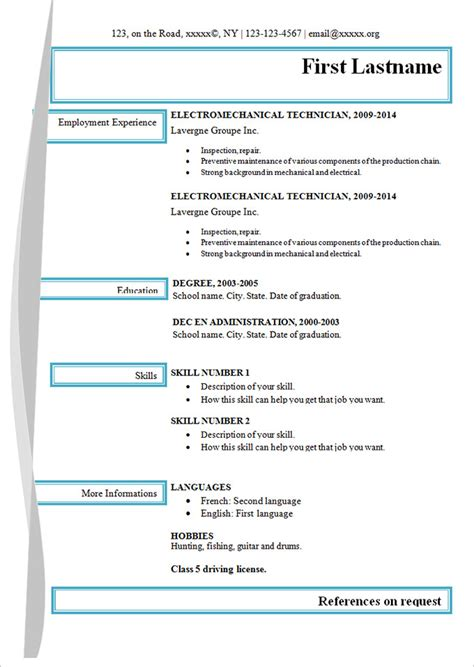 free and easy resume templates simple resume template 39 free sles exles