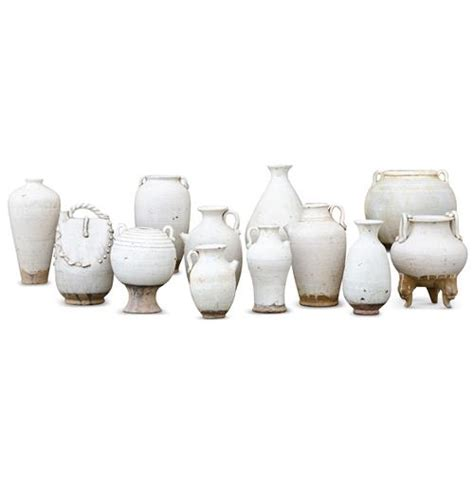 White Vase Set by Jiangjun Vintage Style Porcelain White Vase Pots