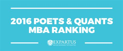 Mba Quantitative Finance by 2016 Poets Quants Mba Ranking