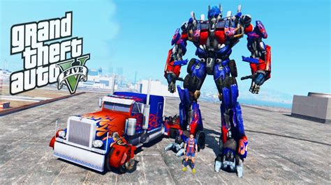 mod gta 5 transformers gta 5 mods transformers mod transforming gta v optimus