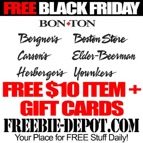 Bon Ton Gift Card - free black friday stuff bon ton stores gift cards 10 item freebie depot
