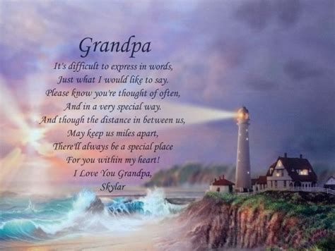 grandpa personalized poem fathers day gift husband wife  poem